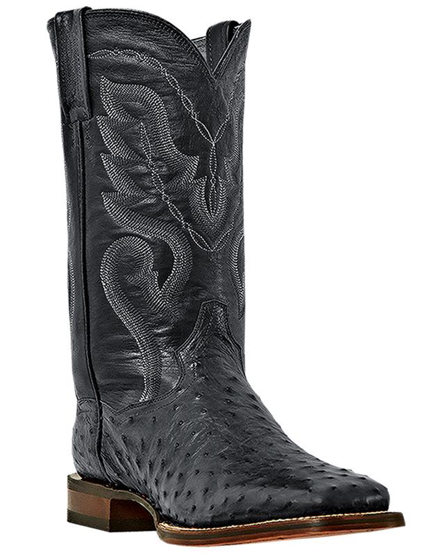 Dan Post Men's Dan Post Chandler Black Full Quill Ostrich Western Boots Wide DP2980 at Sears.com