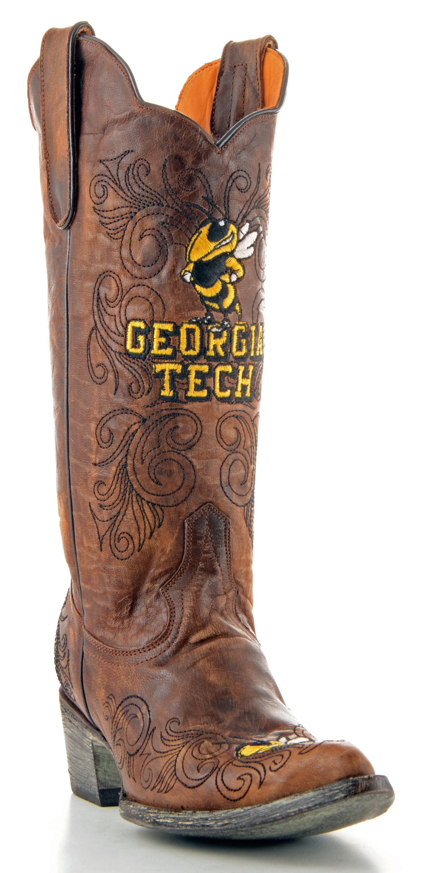 Gameday Boots Georgia Tech University Yellow Jackets Women's Cowboy GameDay Boot Brown Western at Sears.com