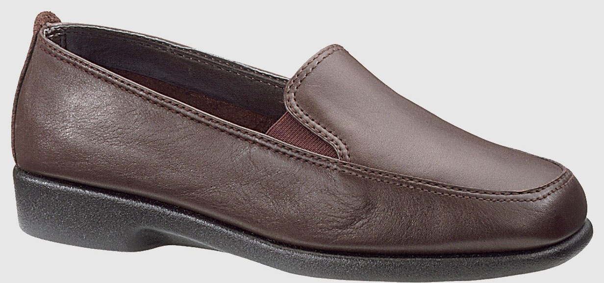 Hush Puppies Womens Hush Puppies Heaven Slip On Shoes Loafers Brown Nappa Leather Wide W (D) H55541 at Sears.com