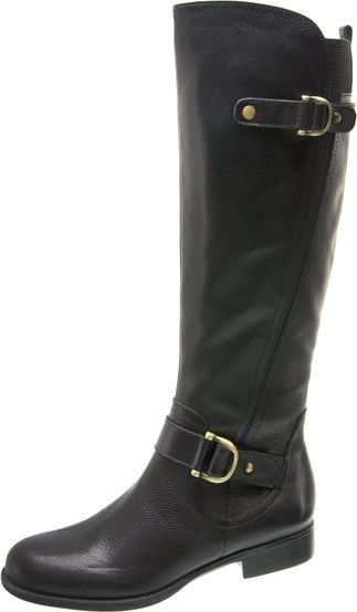 Naturalizer Women's Naturalizer Jersey Knee-High Riding Boot Zip Entry Black Leather Wide at Sears.com