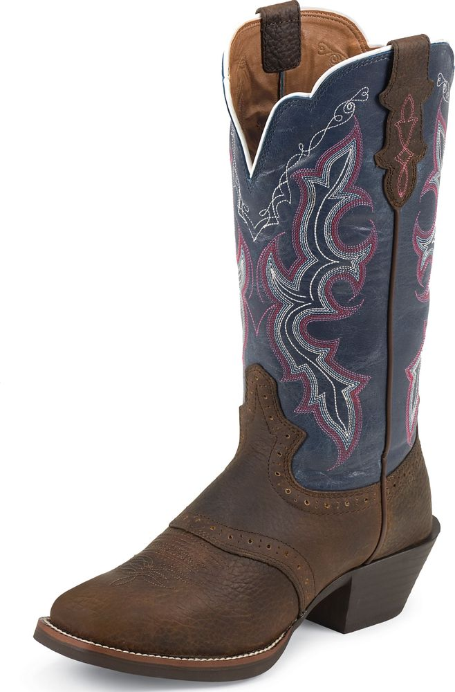 Justin Women's Stampede Punchy Western Boots Dark Brown Rawhide Wide L7305 at Sears.com