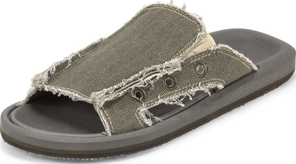 Justin Men's Justin Olive Green Canvas Sandal Slip On Open Toe Medium SM301 at Sears.com