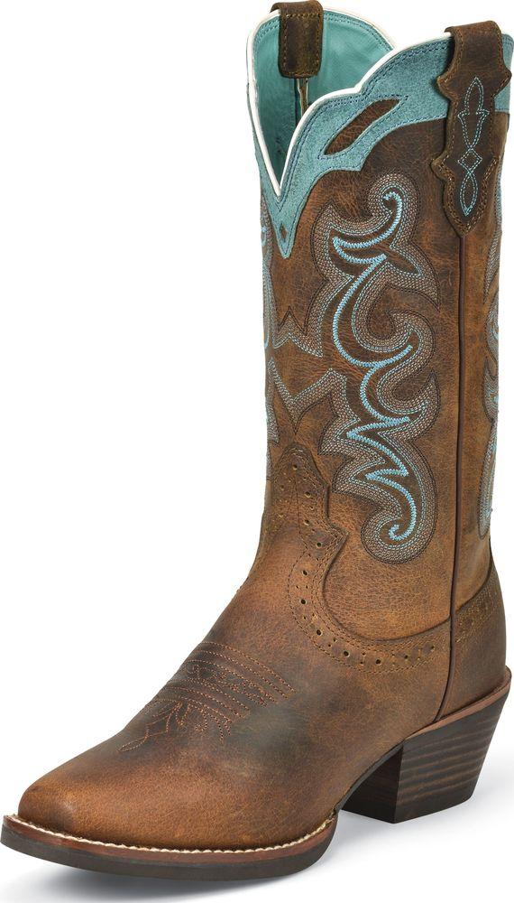 Justin Women?s Rugged Tan Buffalo Square Toe Western Boots Medium SVL7311 at Sears.com