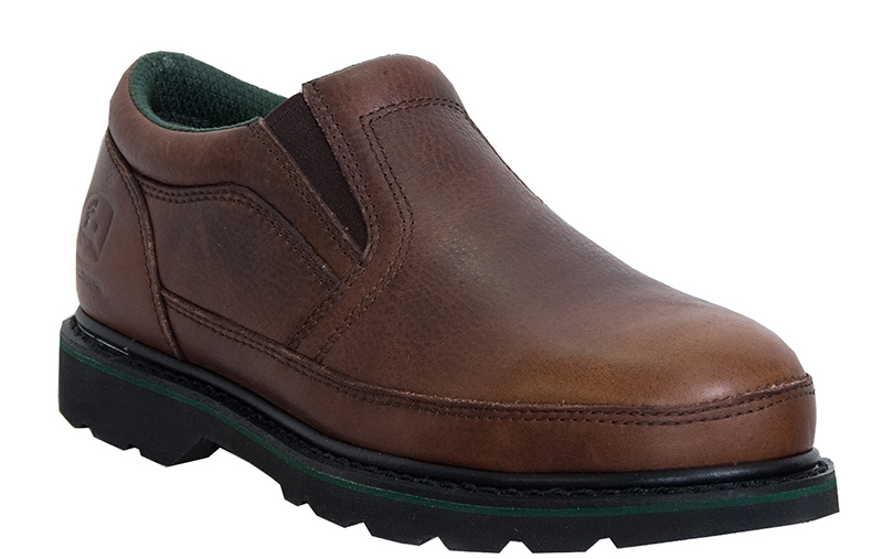 John Deere Men's John Deere Work Safety Shoes Brown Walnut Lightweight Medium (D, M) Twin Gore Slip-On JD7325 at Sears.com
