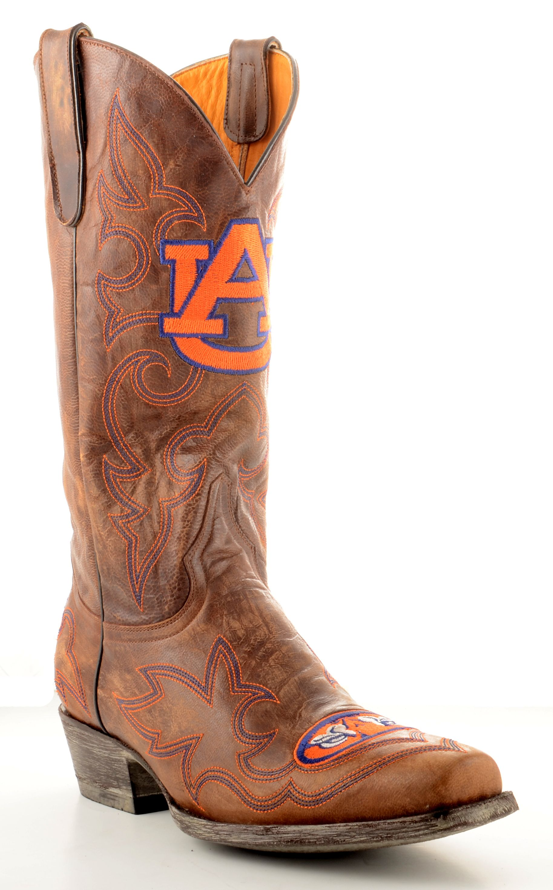 Gameday Boots Mens Gameday Cowboy Western Boot Auburn University Tigers M001_1 Brown at Sears.com