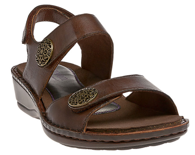 ARAVON Women's Aravon Candace Sandal by New Balance Ex-Wide (2E) Brown AAL09BR_2E at Sears.com