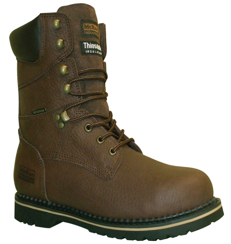 "MCRAE INDUSTRIAL Men's Work Boots McRae Industrial 8"" Pitstop Tumbled Waterproof Leather Wide (EE) Brown MR88104 at Sears.com"
