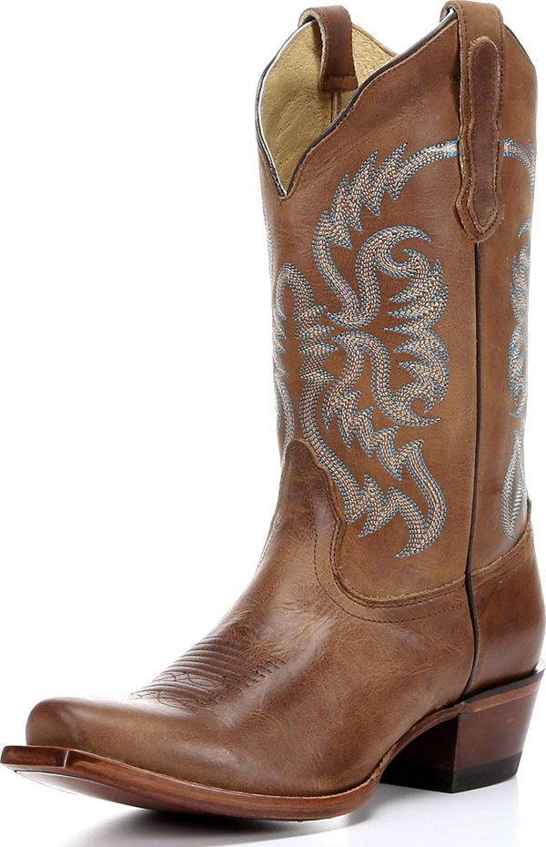 Nocona Women's Old West Tan Leather Western Boots Half Moon Toe NL5009 (B,M) at Sears.com