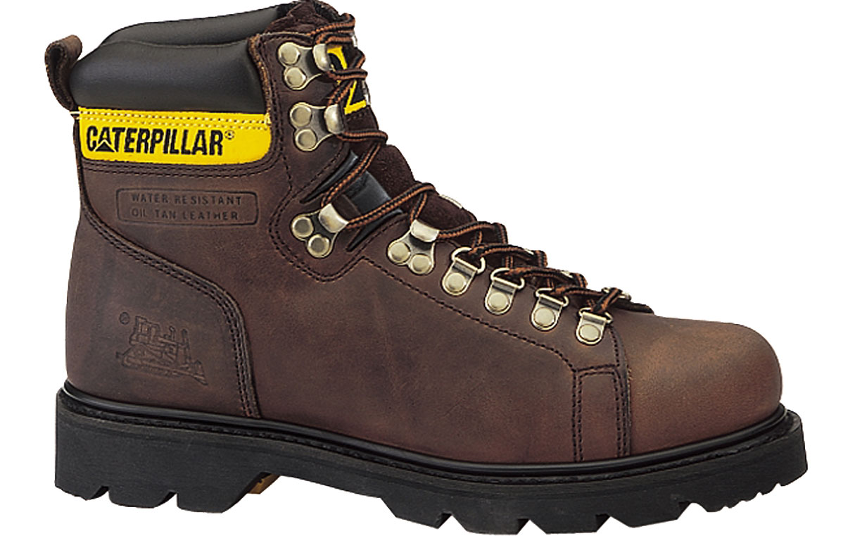"Caterpillar Men's Caterpillar Alaska 6"" Work Boots Classic Cat styling Grain Leather Copper Brown (EE) P74142 at Sears.com"