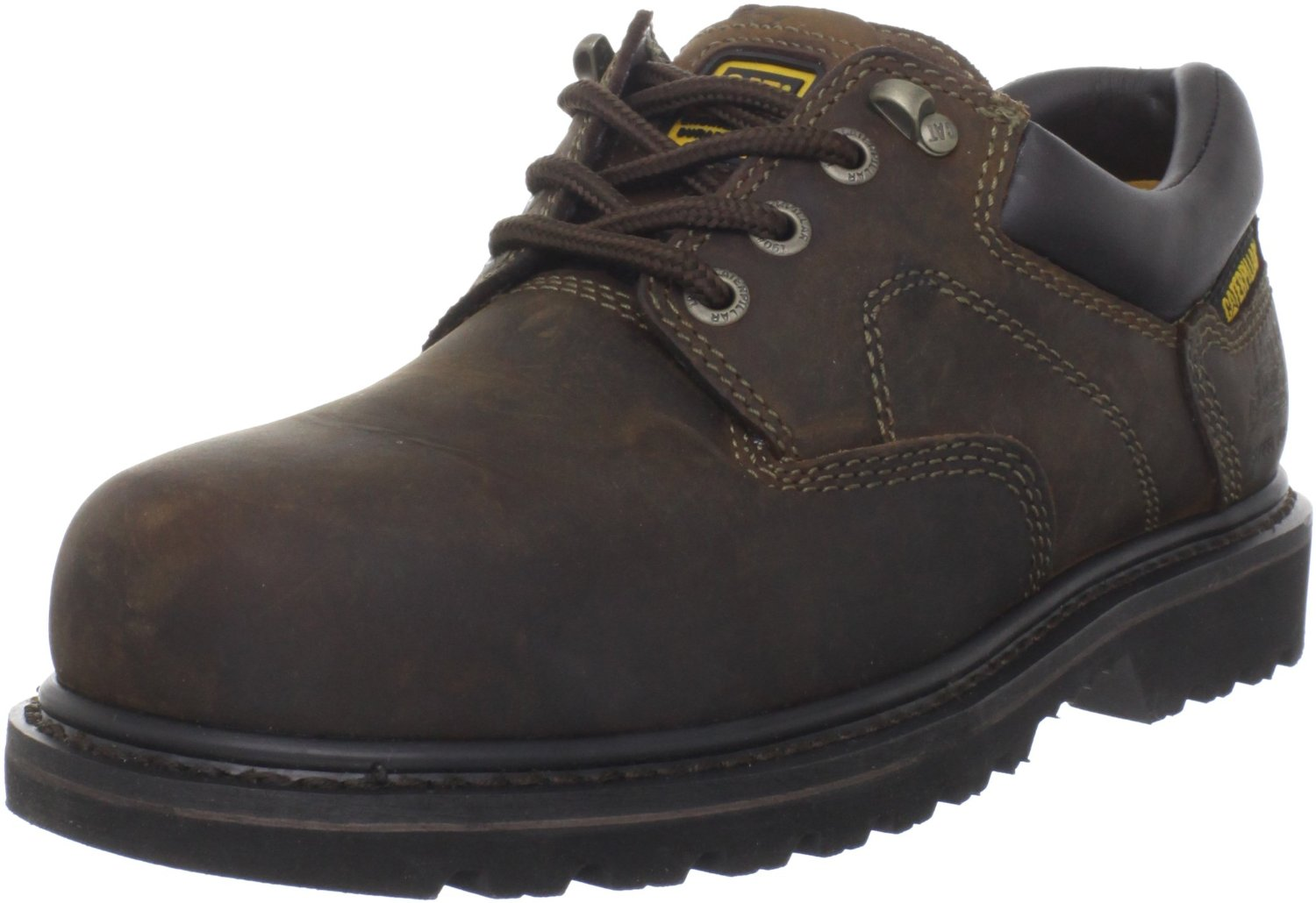 Caterpillar Mens Caterpillar Cat Ridgemont Work Safety Shoes Steel Toe Oxford Wide (EE) Dark Brown P89702 at Sears.com