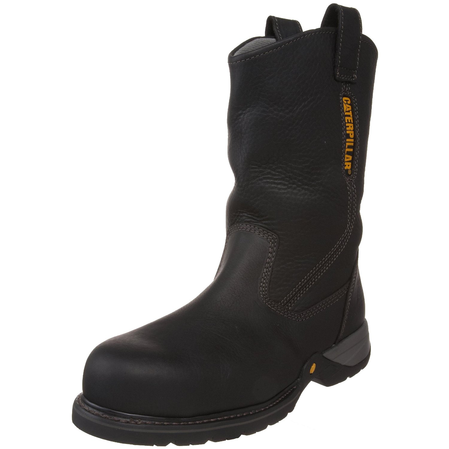 "Caterpillar Mens Caterpillar Gladstone 10"" Steel Toe Work Boots Electrical Hazard Pull On Black (D, M) P89725 at Sears.com"