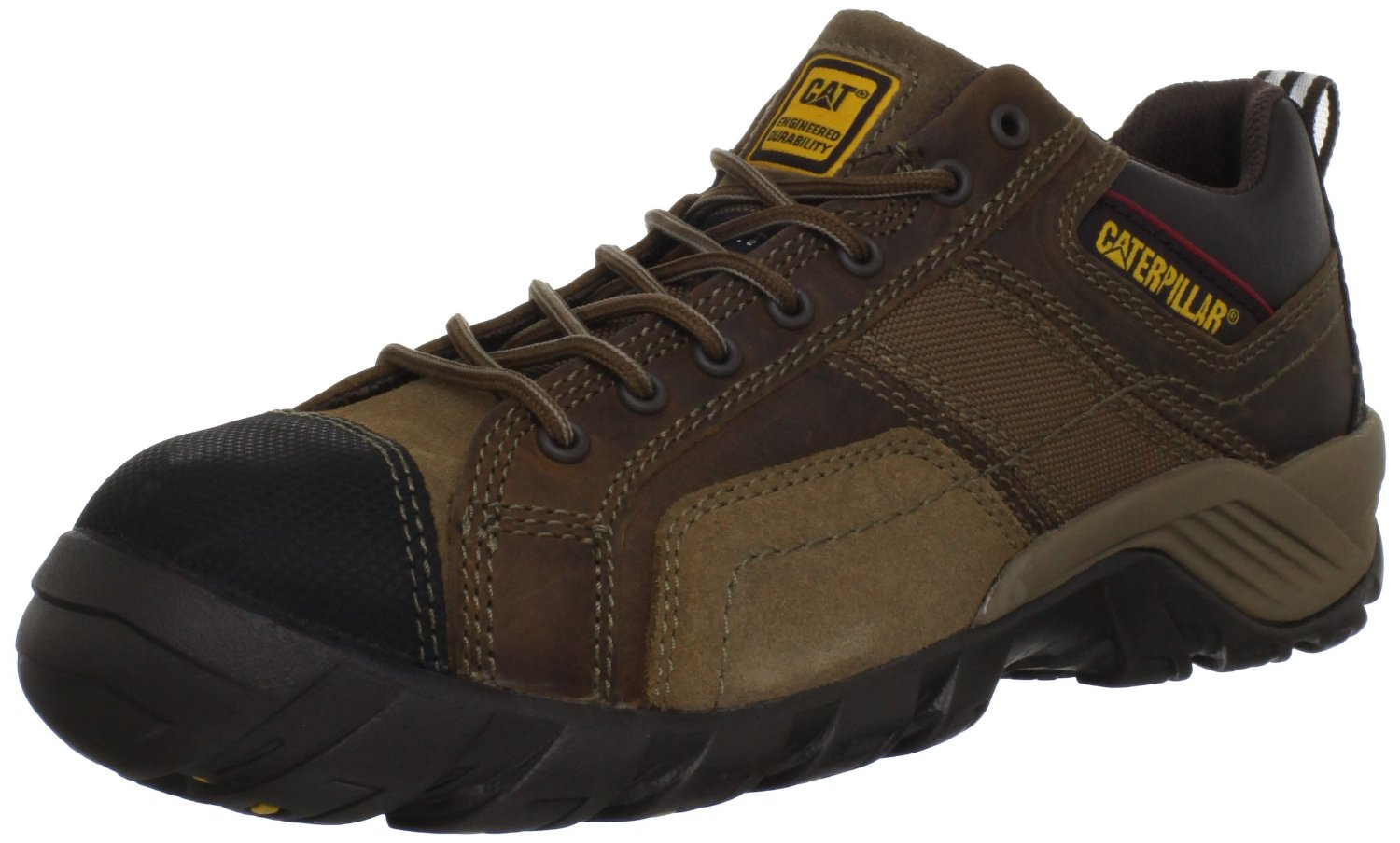 Caterpillar Mens Caterpillar Argon Work Safety Shoes Composite Toe Oxford Leather Wide (EE) Dark Brown P89957 at Sears.com