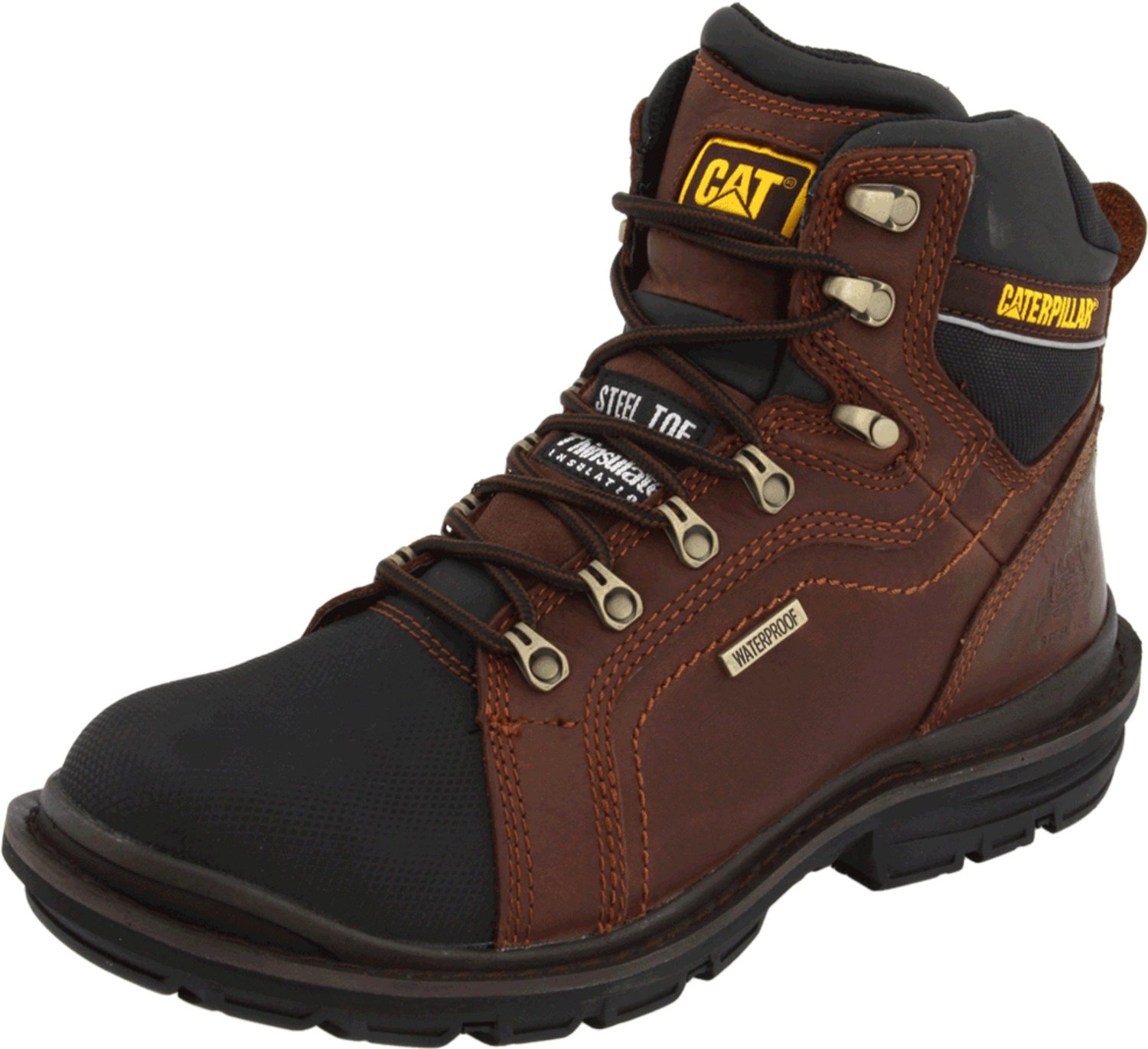 "Caterpillar Men's Caterpillar Manifold 6"" Waterproof Work Safety Boot Steel Toe Leather Medium (D,M) Oak P89981 at Sears.com"