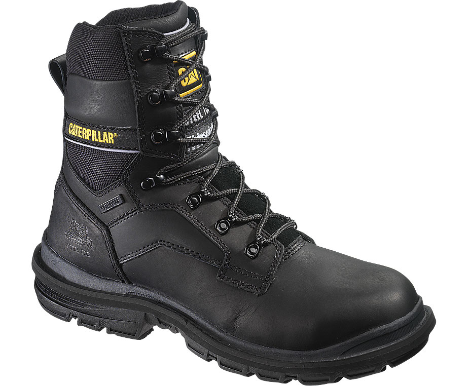 "Caterpillar Men's Caterpillar Generator 8"" Waterproof Work Safety Boot Steel Toe Leather Wide (EE) Black P89987 at Sears.com"