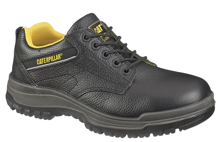 Caterpillar Men's Caterpillar Dimen Steel Toe Oxford Work Shoes Electical Hazard Black Leather (EE) P90000 at Sears.com