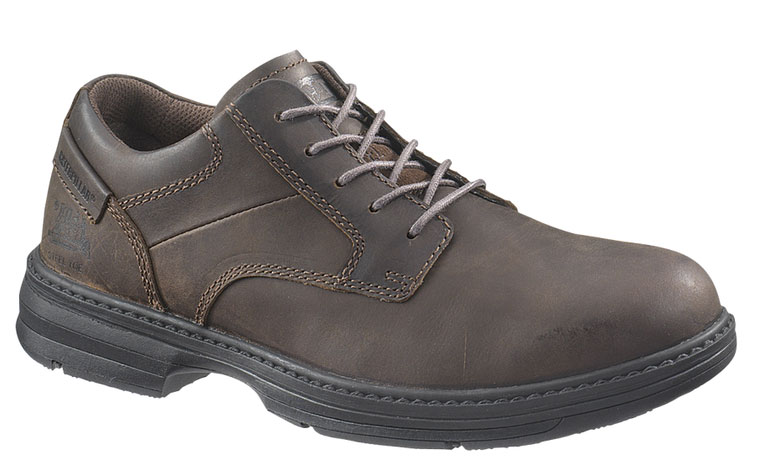 Caterpillar Mens Caterpillar Oversee Steel Toe Oxford Work Shoes Electro-Static Brown Leather (D, M) P90016 at Sears.com
