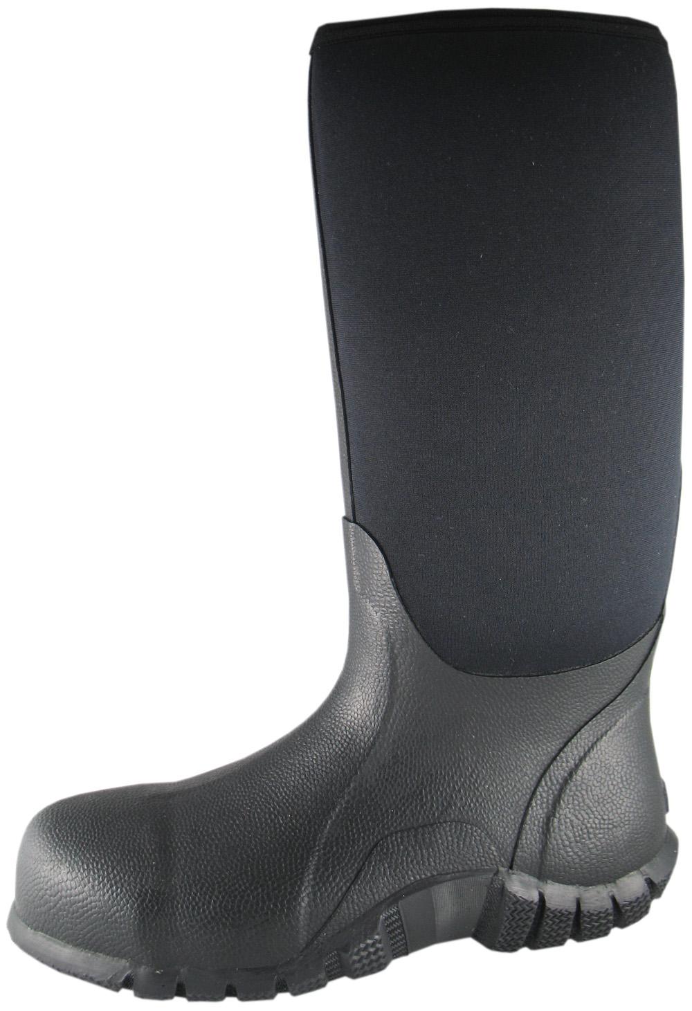 Smoky Mountain Mens Smoky Mountain Safety Amphibian Waterproof Boot Steel-Toe Black Medium 4718