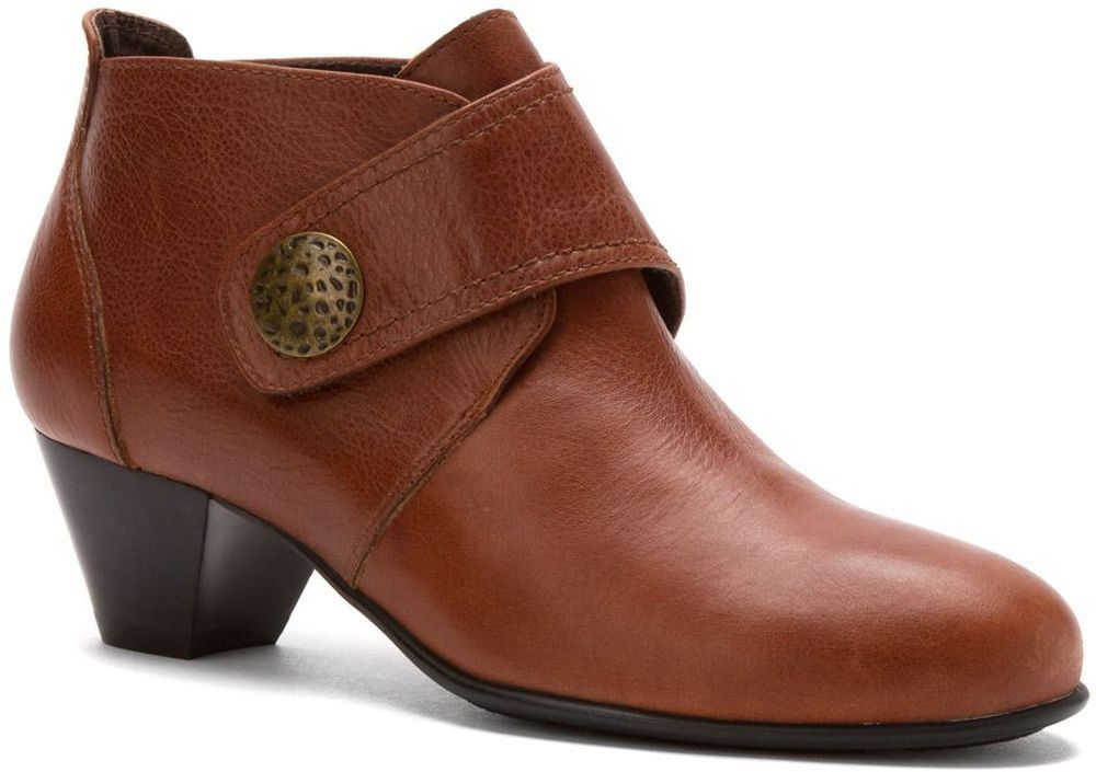 David Tate Women's David Tate Status Ankle Boot Whisky Calf Leather Casual Bootie Wide at Sears.com