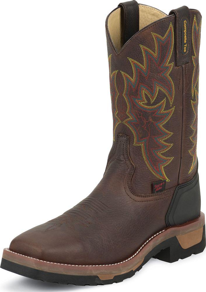 Tony Lama Men's Bark Badger TLX Western Composition Toe Work Boots TW1061