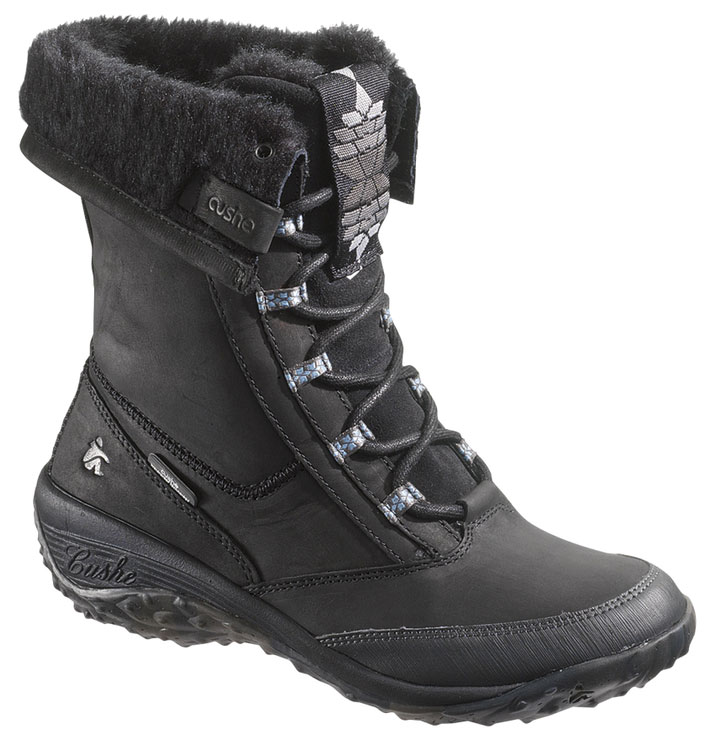 CUSHE Womens Cushe Allpine Cone WP Winter Boot Lace-Up Black Leather B(M) UW00807 at Sears.com