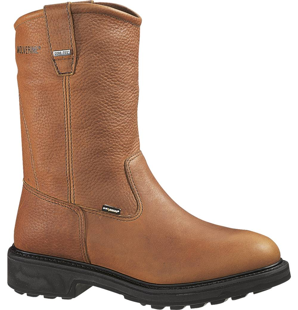Wolverine Mens Wolverine Brek Leather DuraShocks Leather Work Boots Brown Medium (D, M) W02573 at Sears.com