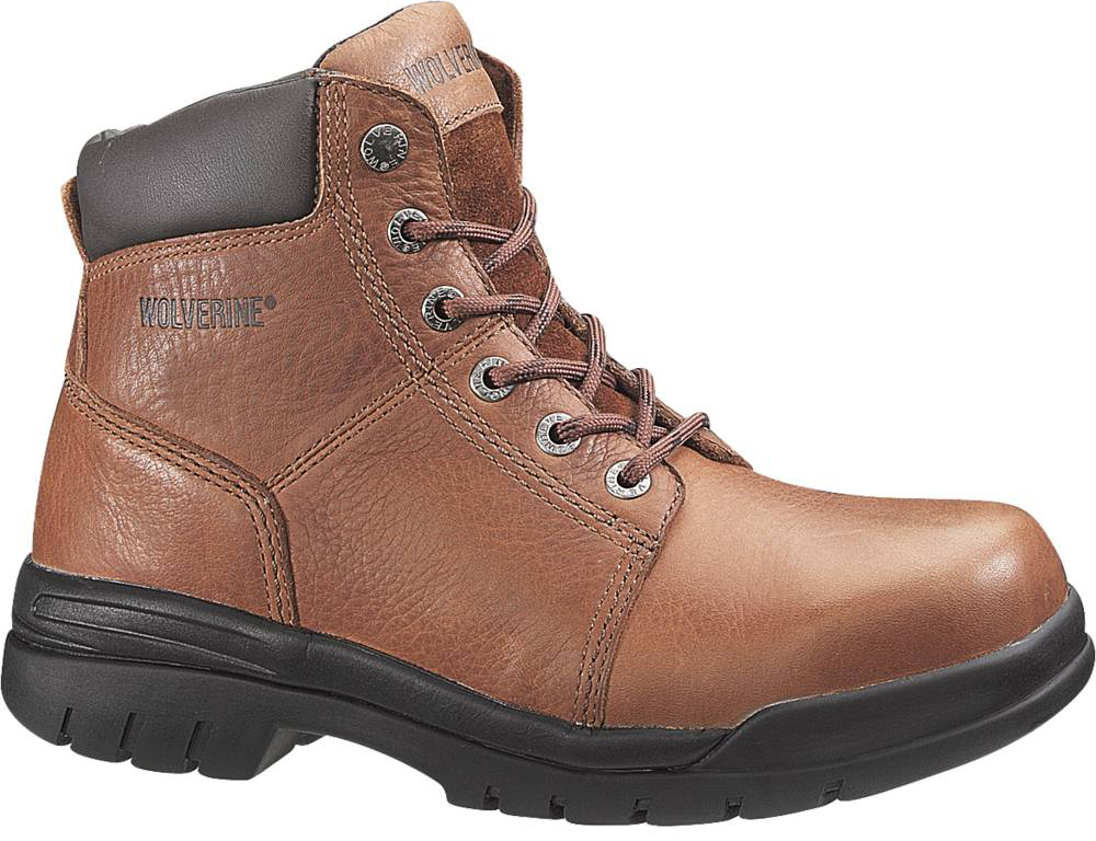 mens wolverine lightweight work boots brown wide e w