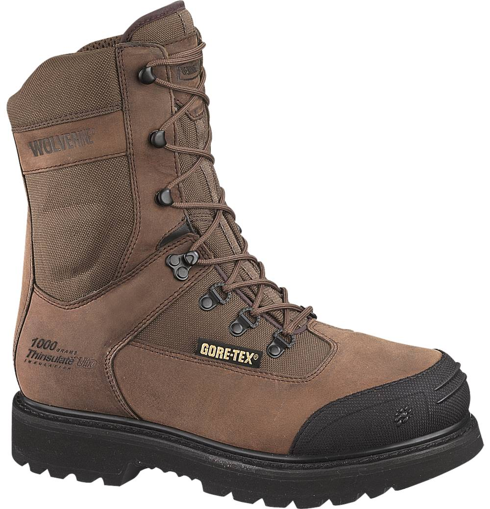 Wolverine Mens Wolverine Brek Leather Big Sky Gore-Tex Insulated Work Boots Brown Medium (D, M) W05551 at Sears.com