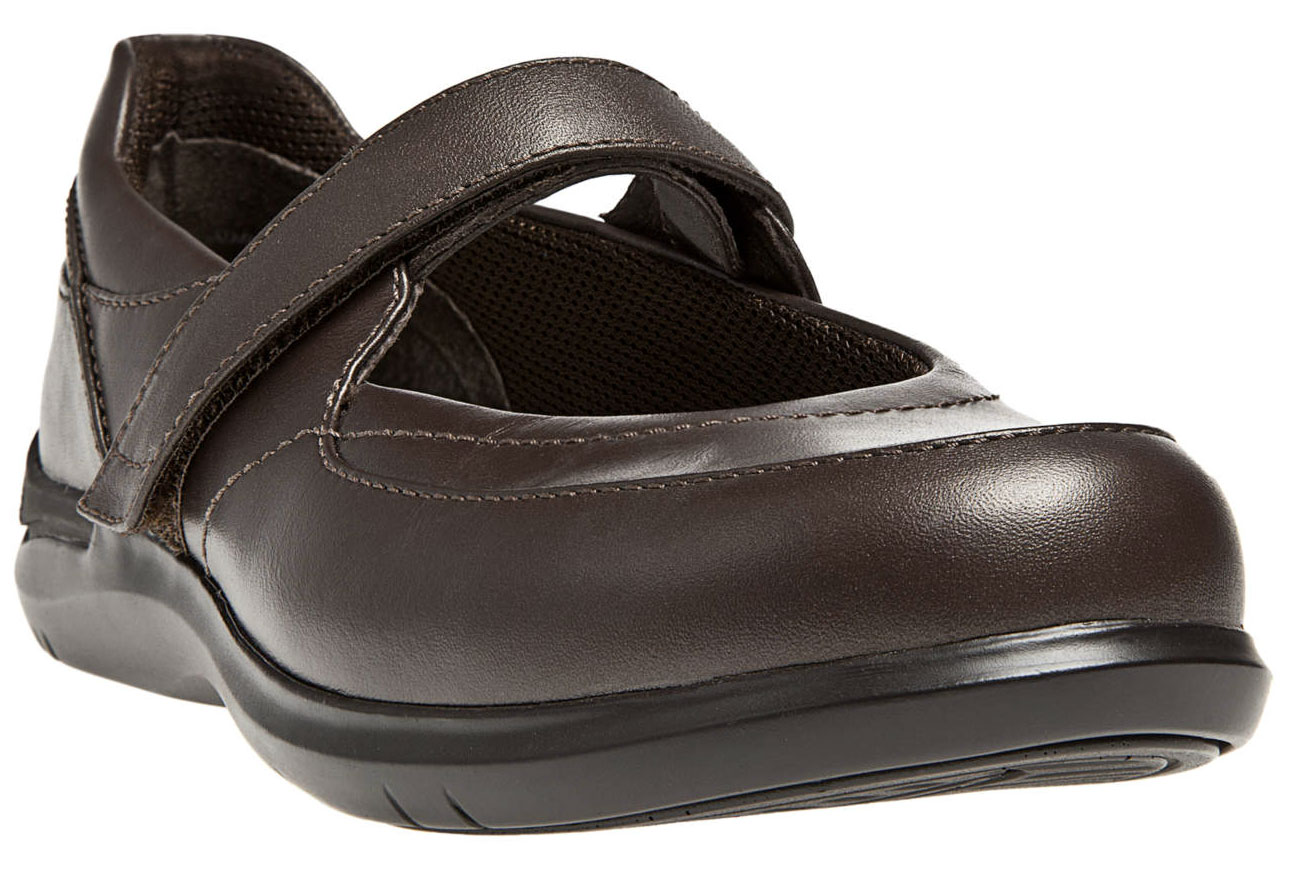 ARAVON Women's Aravon Farah Flats by New Balance Medium B(M) Brown Leather WEF11RB_B at Sears.com