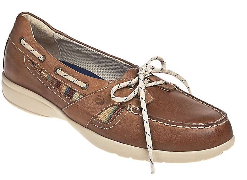 ARAVON Women's Aravon Jillian Boat Shoes by New Balance Medium B(M) Brown Tan Leather WEJ08BBR_B at Sears.com