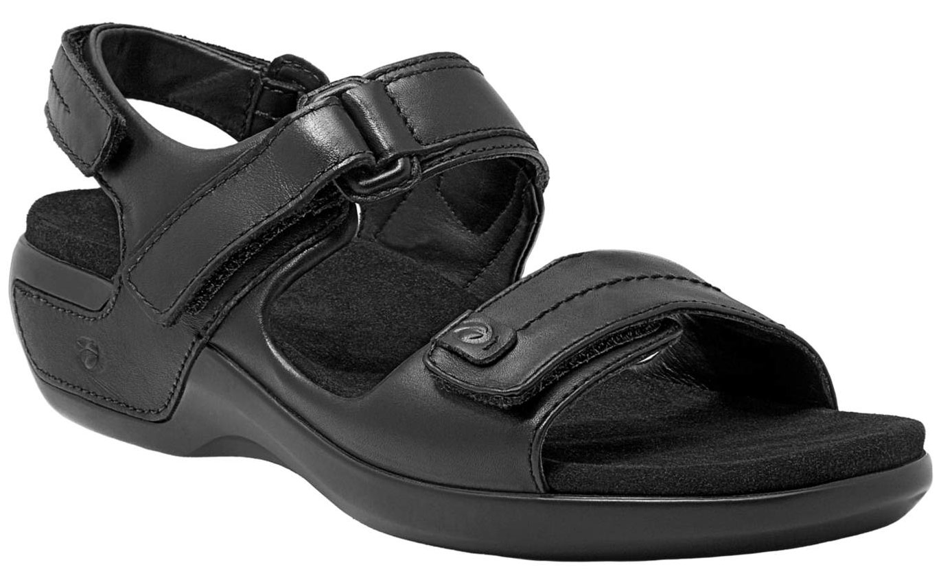 ARAVON Women's Aravon Katy Sandals by New Balance Extra-Wide (2E) Black WSK03BK_2E at Sears.com