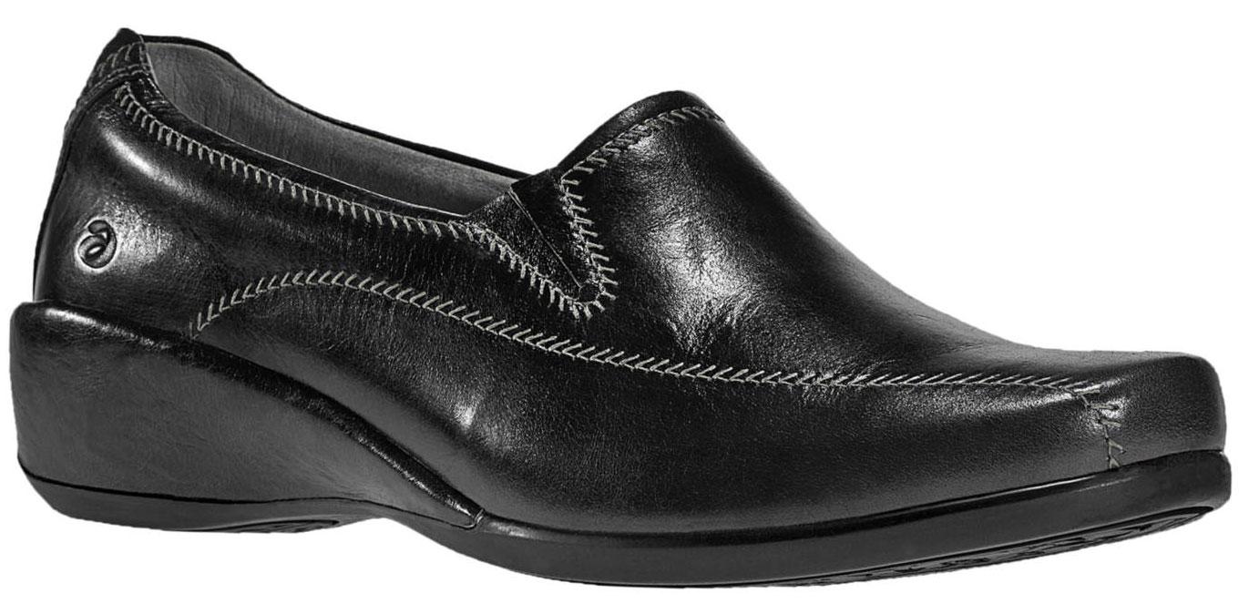 ARAVON Women's Aravon Tia Loafers by New Balance Wide (C, D, W) Black Leather WST05BK_D at Sears.com