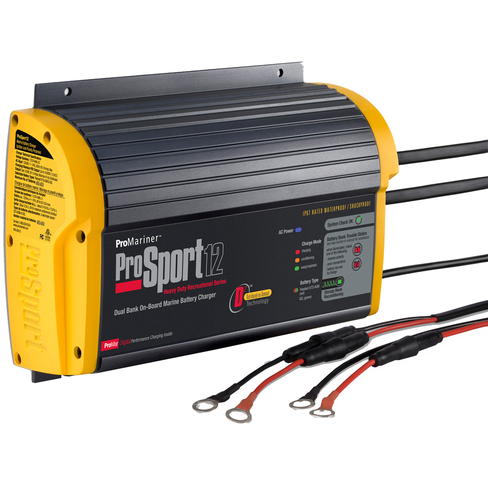 Marine Battery Charger And Monitor : Promariner prosport gen amp bank battery