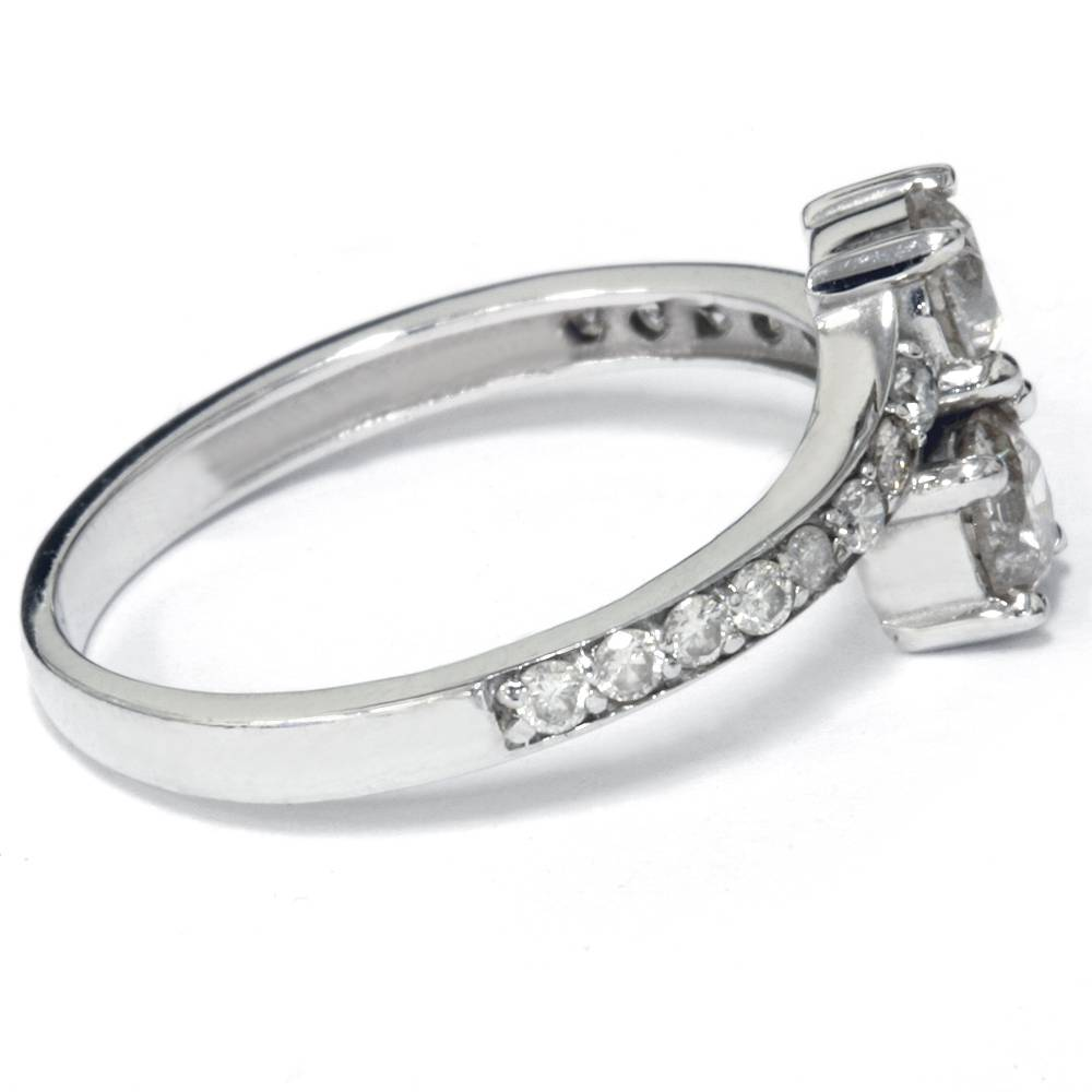 4 Ct 2stone Forever Us Lab Created Diamond Engagement Ring 14k White  Gold