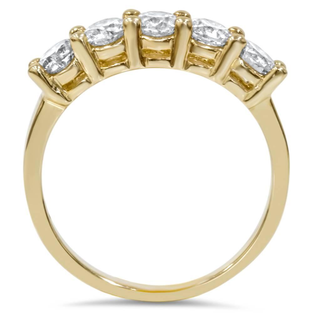 Carat five stone diamond anniversary womens ring