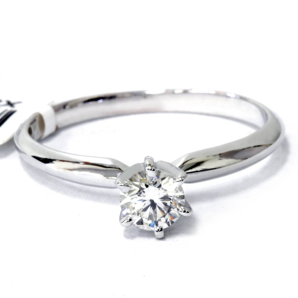0 35ct engagement solitaire ring 14k white