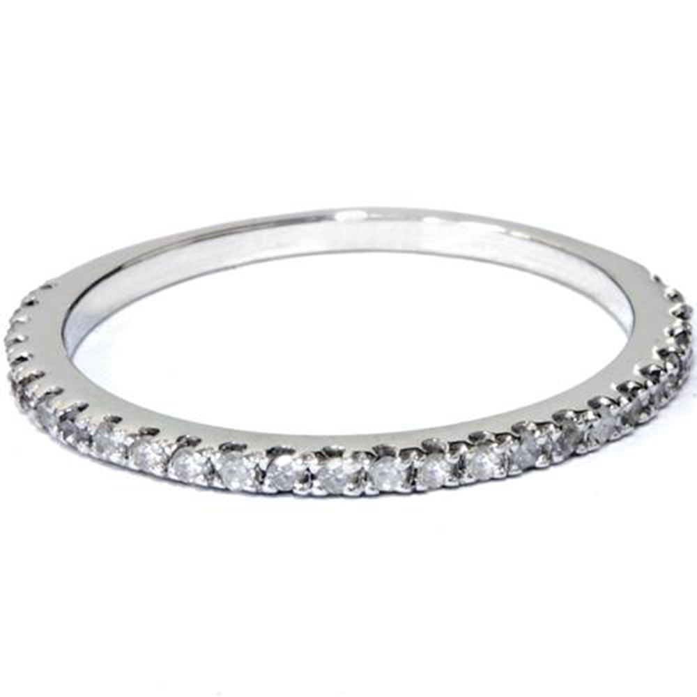 1 5 ct diamond wedding ring white gold stackable band ebay