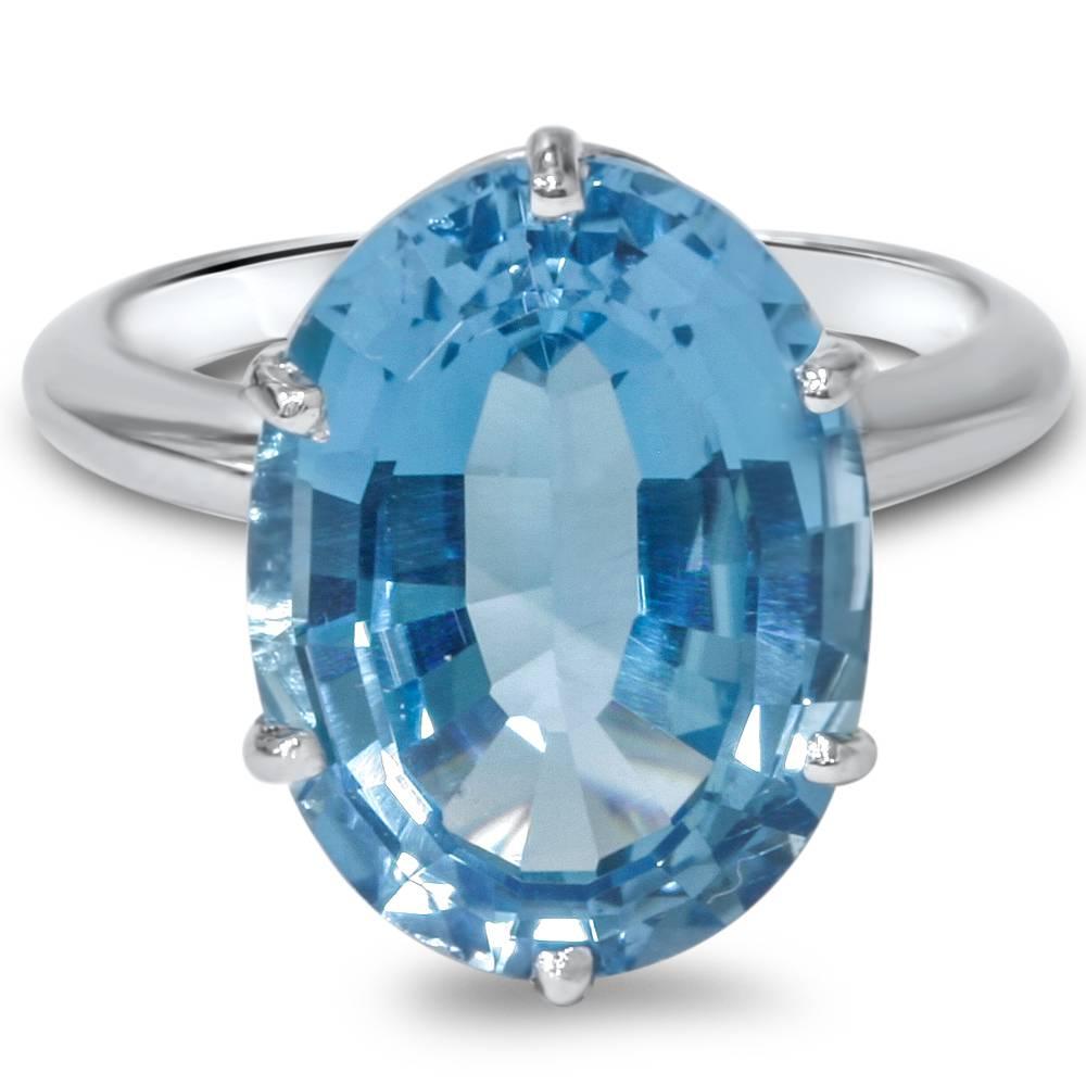 women 39 s blue topaz sterling silver ring ebay. Black Bedroom Furniture Sets. Home Design Ideas