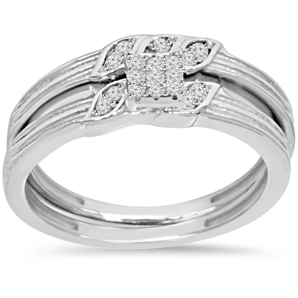 1 6ct engagement wedding ring set 10k white gold