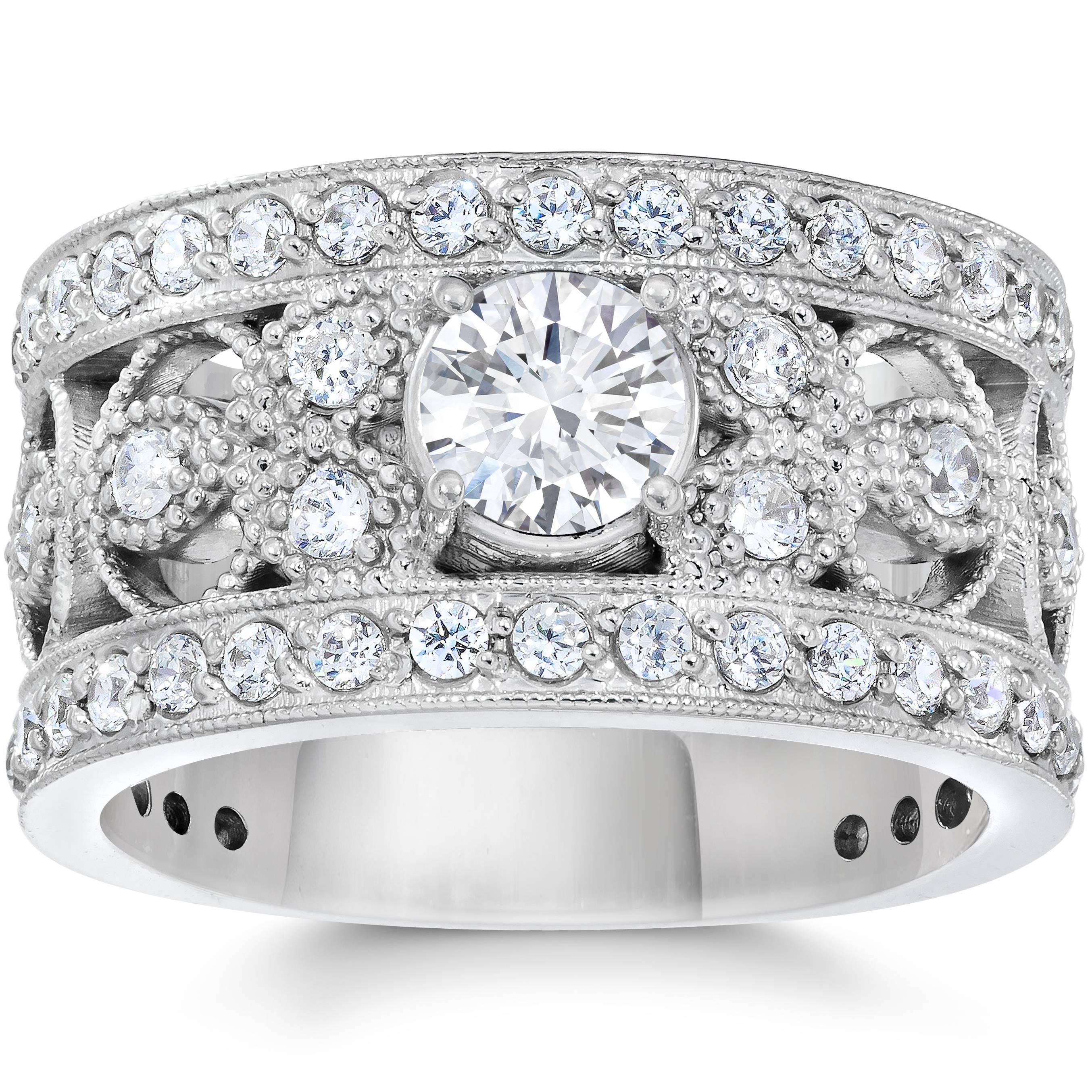 1 5 8 carat vintage real engagement ring 10k white