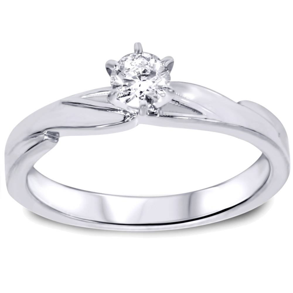 1 4ct Diamond Engagement Wedding Ring Set 10K White Gold