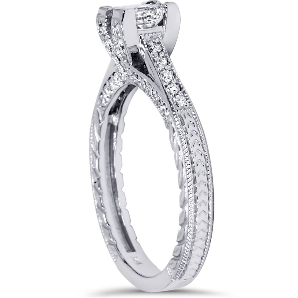 1ct princess cut vintage engagement ring antique