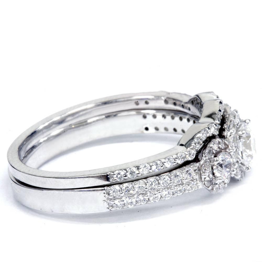 100ct 3 stone diamond engagement wedding ring set 10k for 10k white gold wedding ring