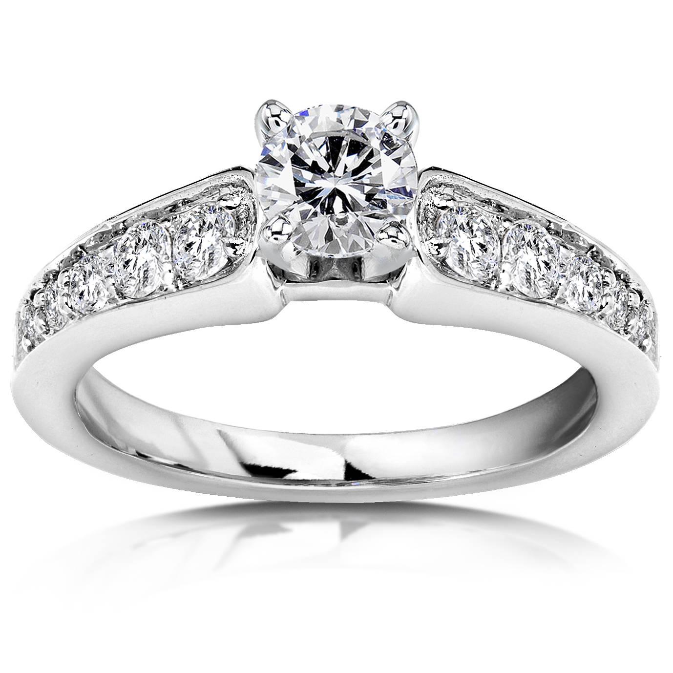3 4ct Diamond Engagement Ring 14K White Gold