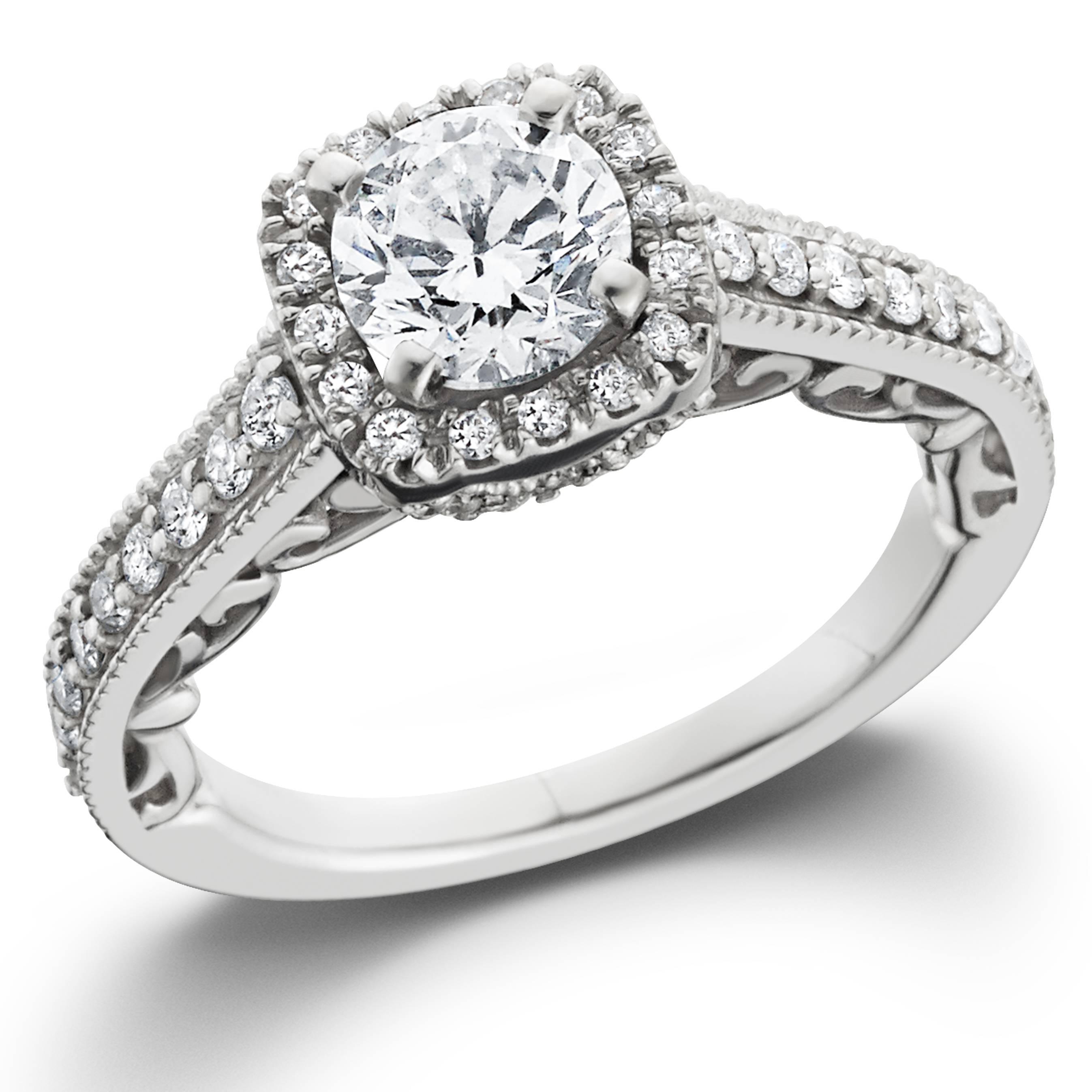 7 8ct cushion diamond vintage halo engagement ring 14k. Black Bedroom Furniture Sets. Home Design Ideas