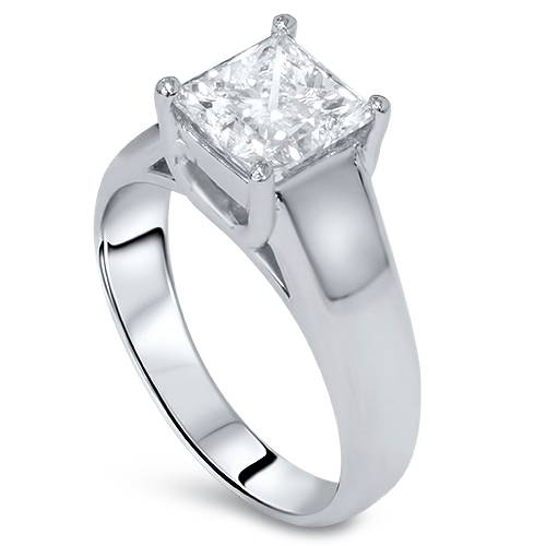 1ct princess cut enhanced solitaire engagement