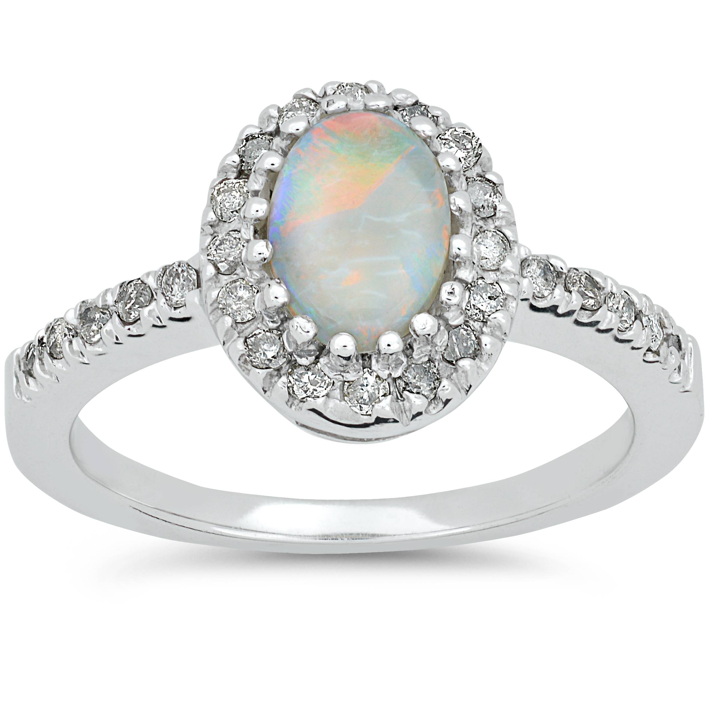 3 4ct oval opal halo engagement solitaire ring