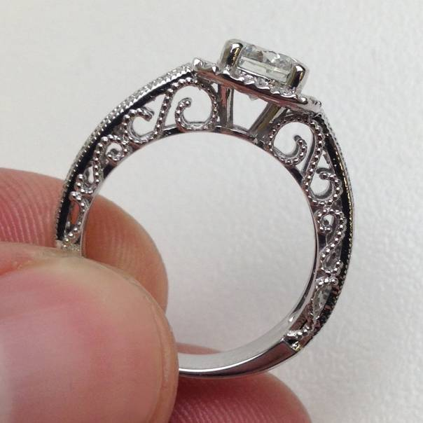 vs si 1 61ct vintage real engagement ring antique
