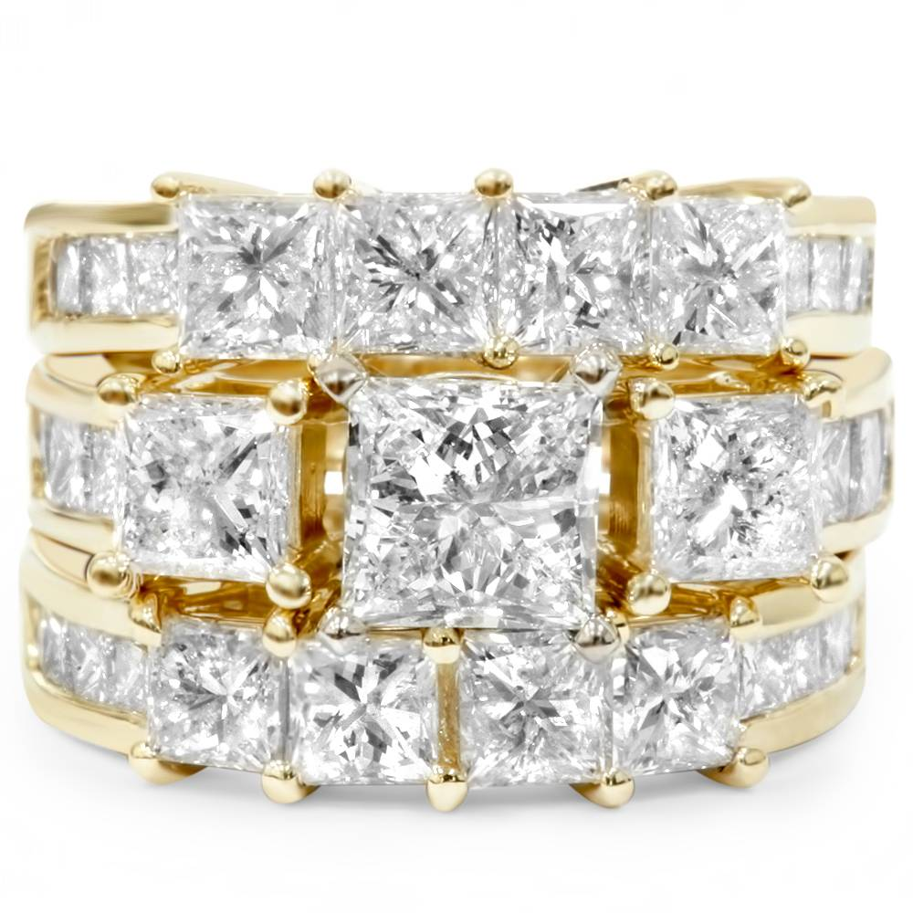 4 1 3ct princess cut enhanced diamond engagement guard. Black Bedroom Furniture Sets. Home Design Ideas