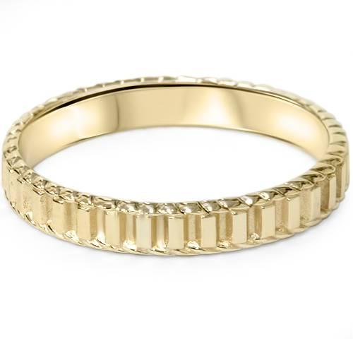 Pompeii3 14K Yellow Gold Hand Braided Wedding Band