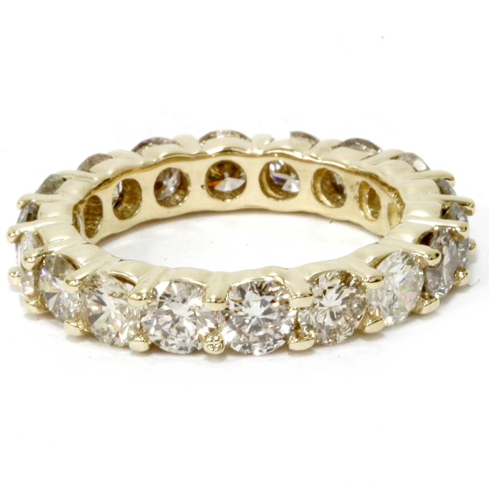 14k yellow gold diamond eternity ring 4 carat womens. Black Bedroom Furniture Sets. Home Design Ideas